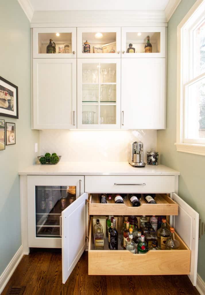 Kitchen Remodel Beverage Bar